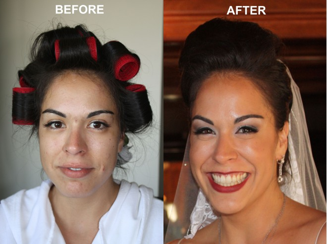 Wedding Makeup - Before & After